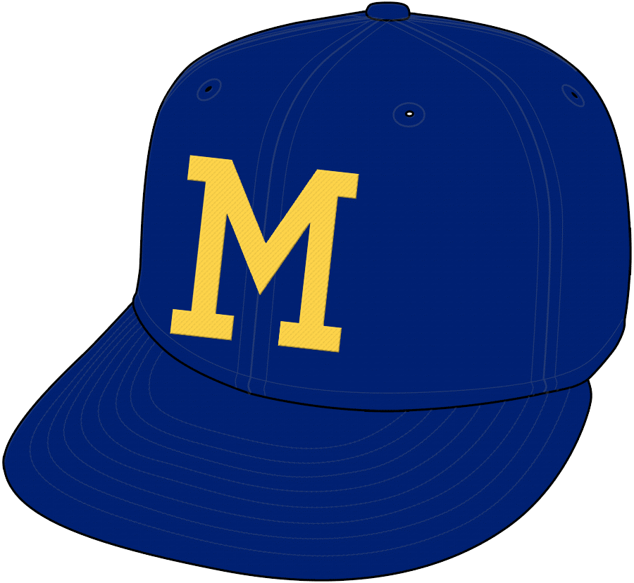 28547a55dc9 This is by far the most bland cap logo ever. It s like I m looking at a  University of Michigan cap